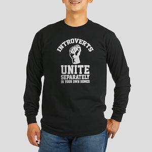 Introverts Unite Long Sleeve Dark T-Shirt