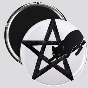 Wicca Pentacle - Black Cat Magnets