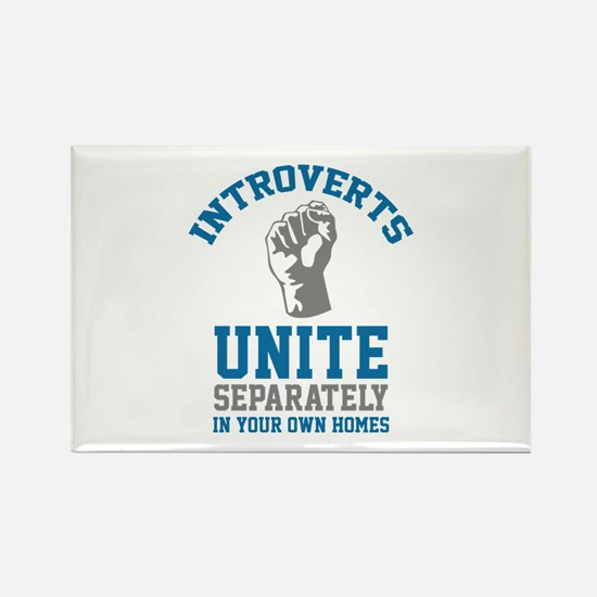 Introverts Unite Rectangle Magnet (100 pack)
