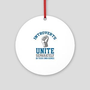 Introverts Unite Ornament (Round)