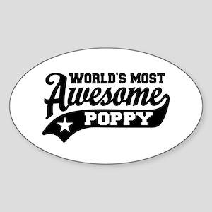 World's Most Awesome Poppy Sticker (Oval)