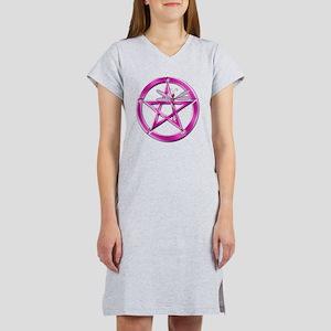 Pink Pentacle Dragonfly Women's Nightshirt