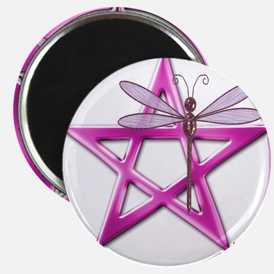 Pink Pentacle Dragonfly Magnets
