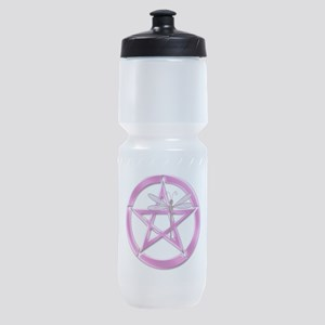 Pink Pentacle Dragonfly Sports Bottle