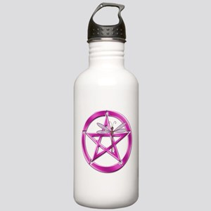 Pink Pentacle Dragonfly Water Bottle