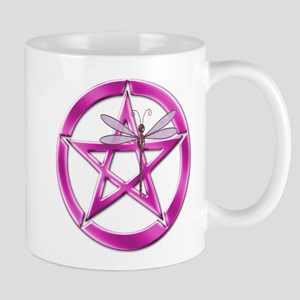 Pink Pentacle Dragonfly Mugs
