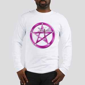 Pink Pentacle Dragonfly Long Sleeve T-Shirt