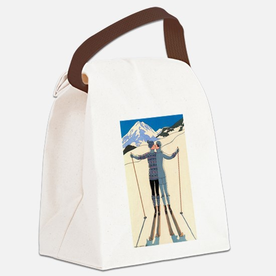 Art Deco by George Barbier Canvas Lunch Bag