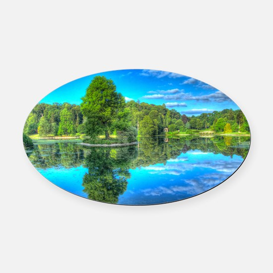Stourhead Lake Oval Car Magnet