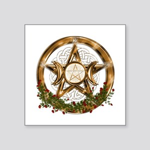 Gold Triple Moon Pentacle Sticker