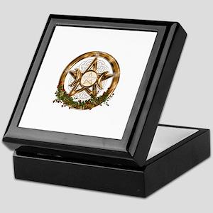 Gold Triple Moon Pentacle Keepsake Box