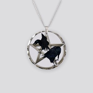 Silver Raven Pentacle Necklace