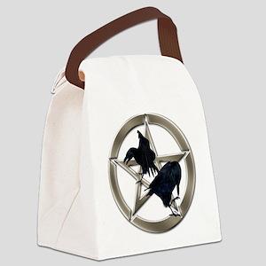 Silver Raven Pentacle Canvas Lunch Bag