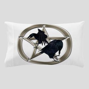 Silver Raven Pentacle Pillow Case