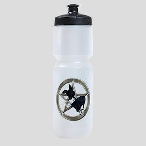 Silver Raven Pentacle Sports Bottle