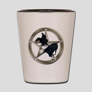 Silver Raven Pentacle Shot Glass