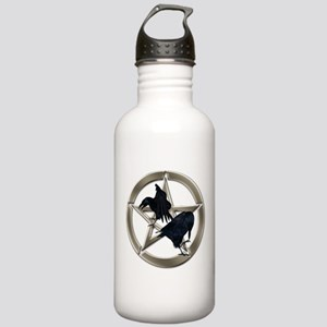 Silver Raven Pentacle Water Bottle