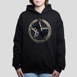 Silver Raven Pentacle Women's Hooded Sweatshirt