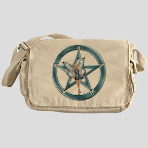 Blue Pentacle Fairy Messenger Bag