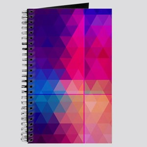 Colorful Abstract Geometric Pattern Journal