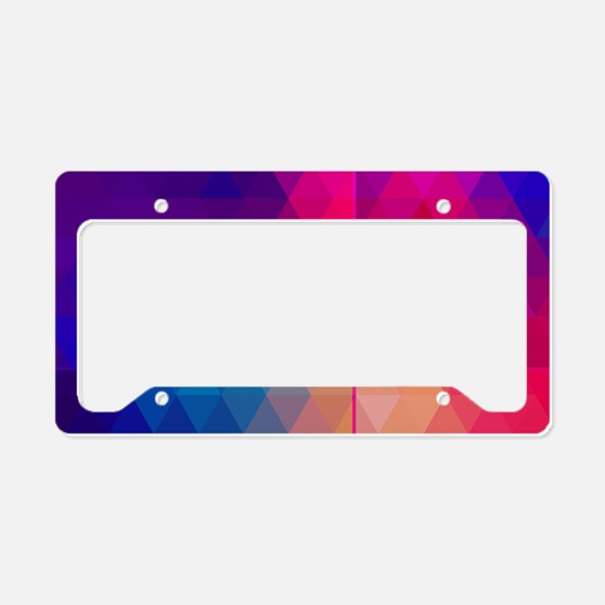 Colorful Abstract Geometric P License Plate Holder