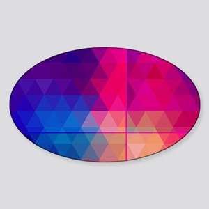 Colorful Abstract Geometric Pattern Sticker (Oval)