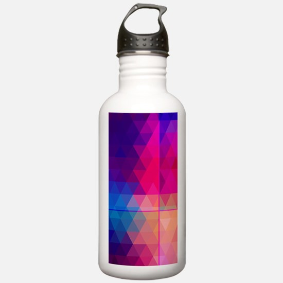 Colorful Abstract Geom Water Bottle
