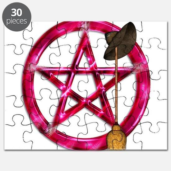 Pink Pentacle Broom - Hat Puzzle