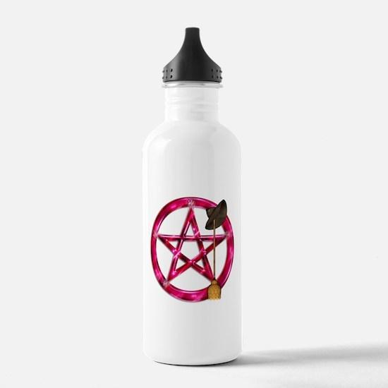 Pink Pentacle Broom - Hat Water Bottle