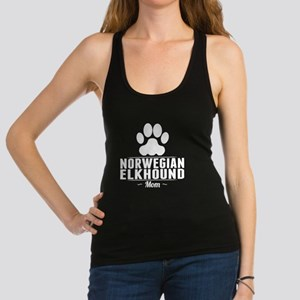 Norwegian Elkhound Mom Racerback Tank Top