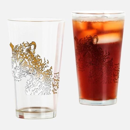 Unique Jaguar Drinking Glass
