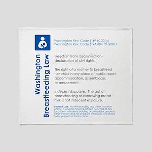 Breastfeeding In Public Law - Washington Throw Bla