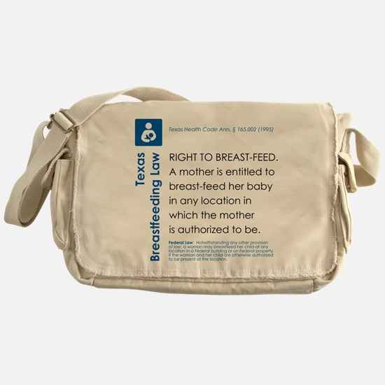 Breastfeeding In Public Law - Texas Messenger Bag
