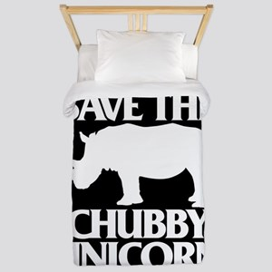 Save The Chubby Unicorn Twin Duvet Cover