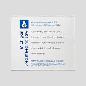 Breastfeeding In Public Law - Michigan Throw Blank