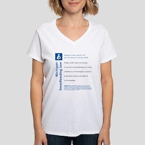 Breastfeeding In Public Law - Michigan T-Shirt