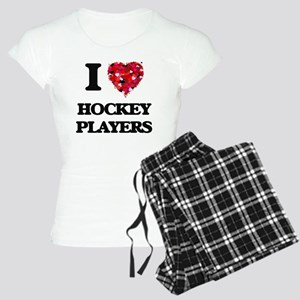 I love Hockey Players Women's Light Pajamas