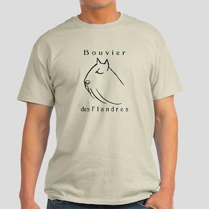 Bouvier Head Sketch w/ Text Light T-Shirt