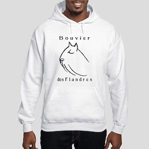 Bouvier Head Sketch w/ Text Hooded Sweatshirt
