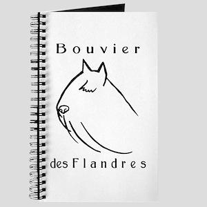 Bouvier Head Sketch w/ Text Journal