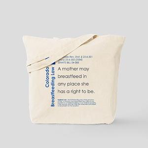 Breastfeeding In Public Law - Colorado Tote Bag