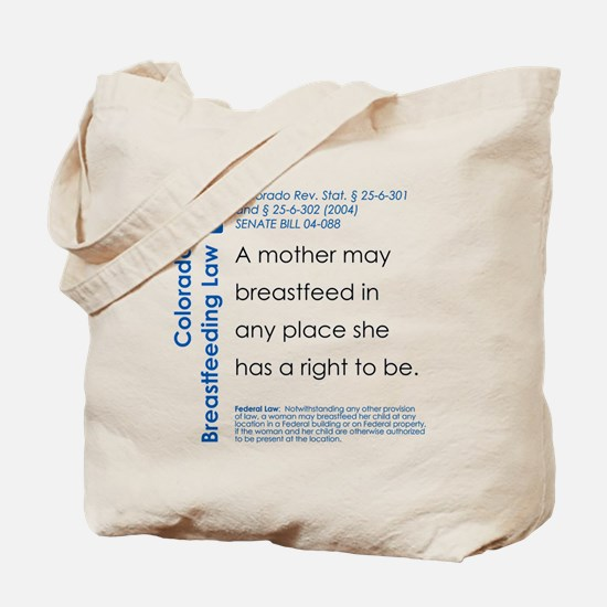 Breastfeeding In Public Law - Colorado Tote Bag