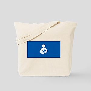 breastfeeding icon rectangle Tote Bag