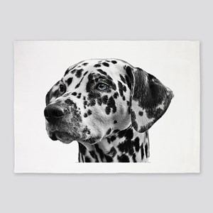 Loyal Dalmatian 5'x7'Area Rug