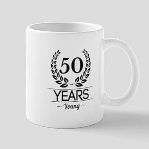50 Years Young Mugs