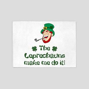 Leprechauns Make Me Do It 5'x7'Area Rug
