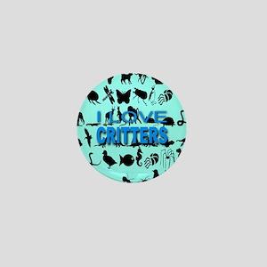 I Love Critters Skyblue Mini Button
