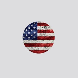 Grunge American Flag Mini Button
