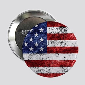 """Grunge American Flag 2.25"""" Button (10 pack)"""