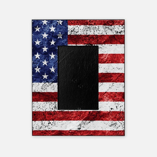 Grunge American Flag Picture Frame